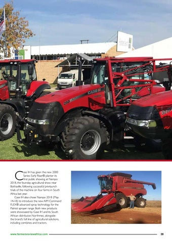 Page 41 of CASE IH's new 2000 series planter at Nampo 2018 Harvest