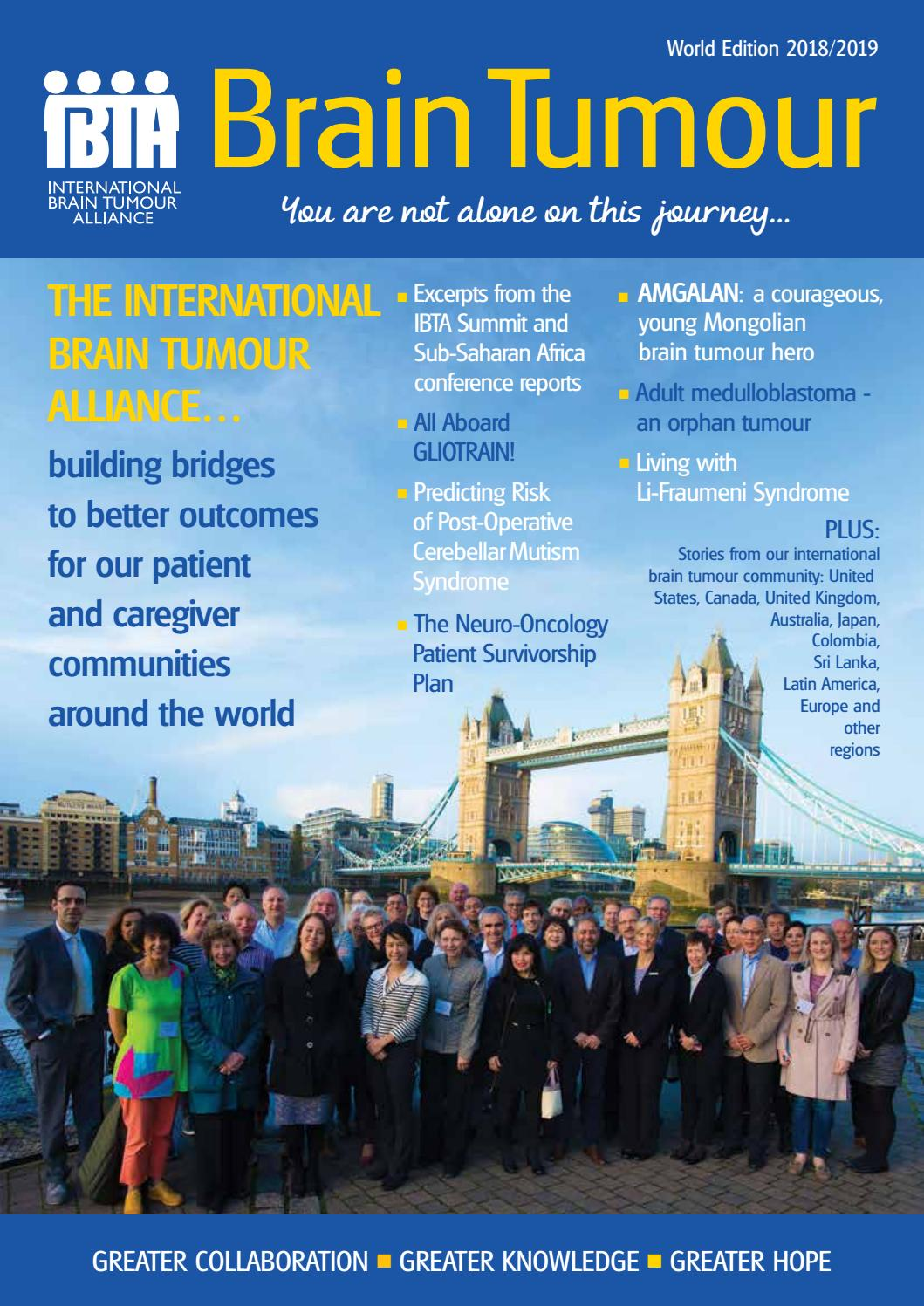 Brain Tumour Magazine: World Edition 2018/2019 by The