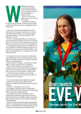 Page 40 of Eve Walsh-Dann - Teenage Sprint Sensation