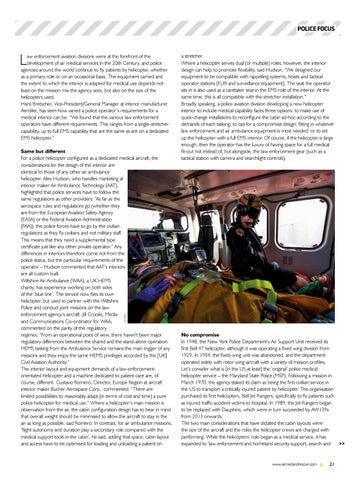 Page 23 of Police Focus: Insights into interiors. How are police helicopters adapted for medical care?