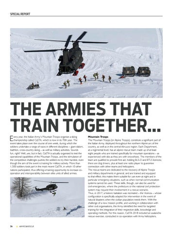 Page 28 of Special Report: Italian Army Mountain Troop Alpine Rescue Training