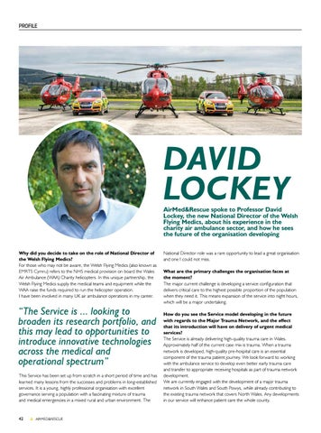 Page 44 of Profile: Professor David Lockey, the new National Director of the Welsh Flying Medics