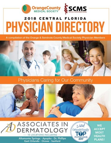 2018 Central Florida Physician Directory by Orlando Medical