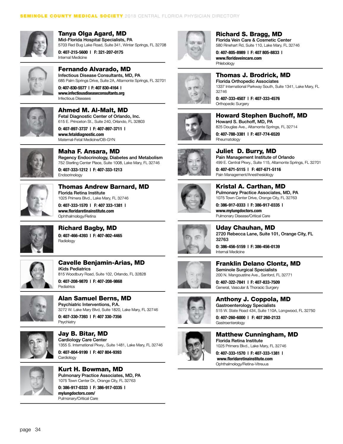 2018 Central Florida Physician Directory by Orlando Medical