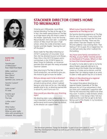 Page 4 of Laura Braza Returns to Milwaukee