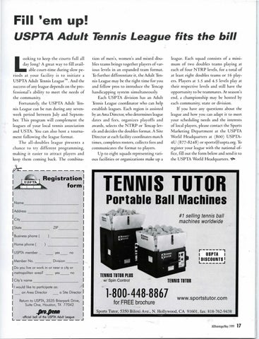 Page 19 of Fill 'em up! USPTA Adult Tennis League fits the bill