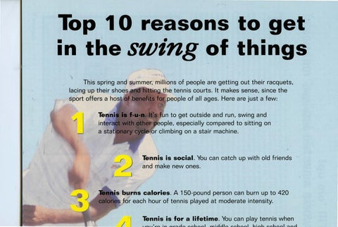 Page 20 of The 10 reasons to get in the swing of things