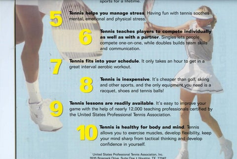 Page 21 of The 10 reasons to get in the swing of things