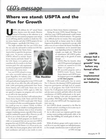 Page 7 of Where we stand: USPTA and the Plan for Growth