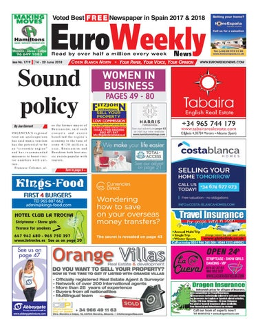 9152303f50fb Euro Weekly News - Costa Blanca North 14 - 20 June 2018 Issue 1719 ...