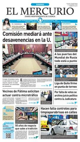 8581ea7b hemeroteca 10-06-2018 by Diario El Mercurio Cuenca - issuu