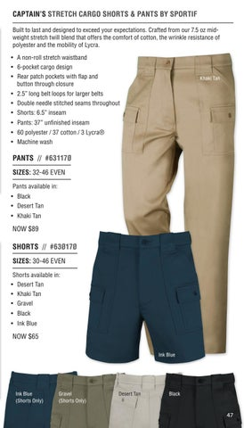 448ad5538b CAPTAIN S STRETCH CARGO SHORTS   PANTS BY SPORTIF Built to last and  designed to exceed your expectations. Crafted from our 7.5 oz midweight  stretch twill ...
