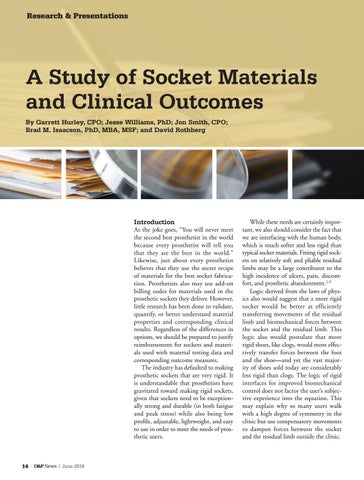 Page 16 of A Study of Socket Materials and Clinical Outcomes