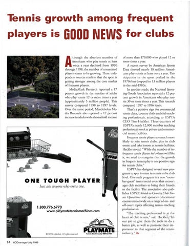 Page 16 of Tennis growth among frequent players is GOOD NEWS for clubs