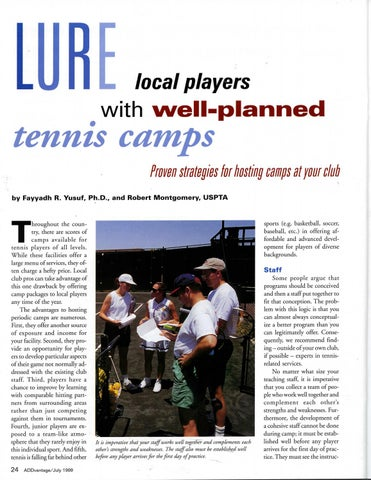 Page 26 of Lure local players with well-planned tennis camps