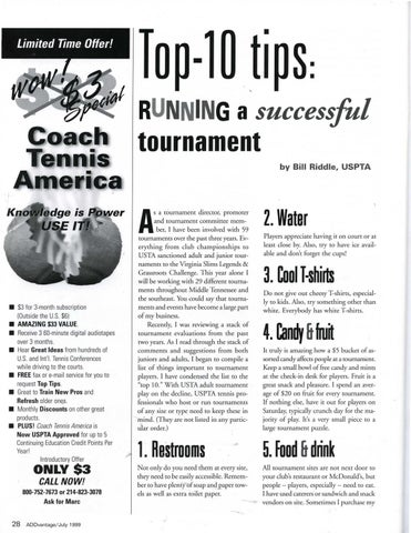 Page 30 of Top-10 tips: Running a successful tournament