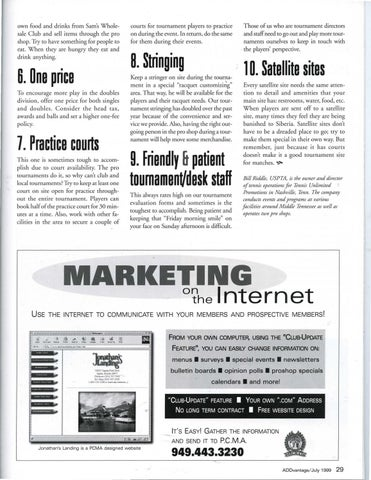 Page 31 of Top-10 tips: Running a successful tournament