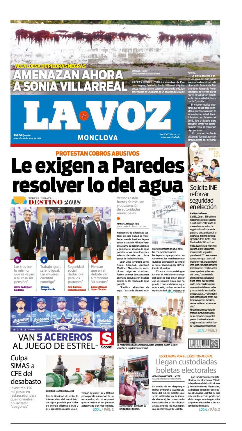Periodico digital edicion del 13 de junio del 2018 by Azeneth García ...