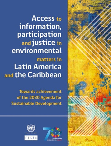 Access to information, participation and justice in