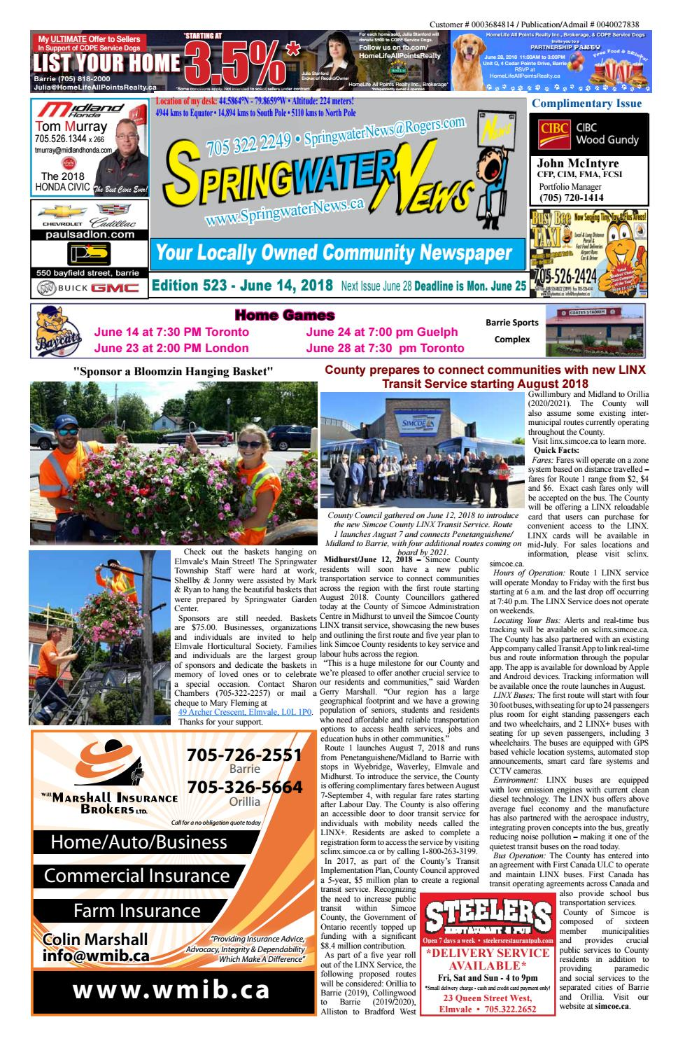 June 14 2018 ed 523 for web by Springwater News - issuu