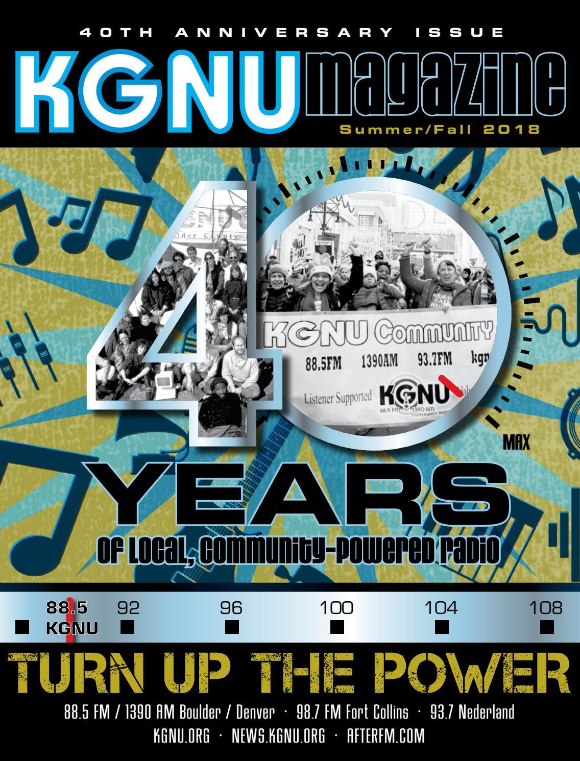 KGNU Magazine: 40th Anniversary Issue by KGNU AM/FM (Denver ...