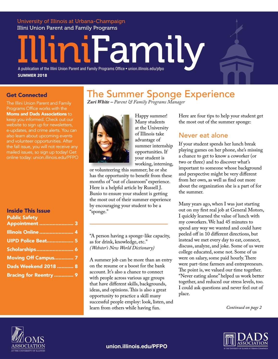 Continuing Student Newsletter Parent And Family Programs Office University Of Illinois By Illini Union Issuu