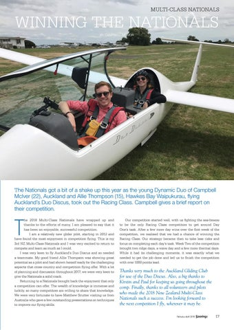 Page 17 of Youth Glide pilots win at the NZ Nationals