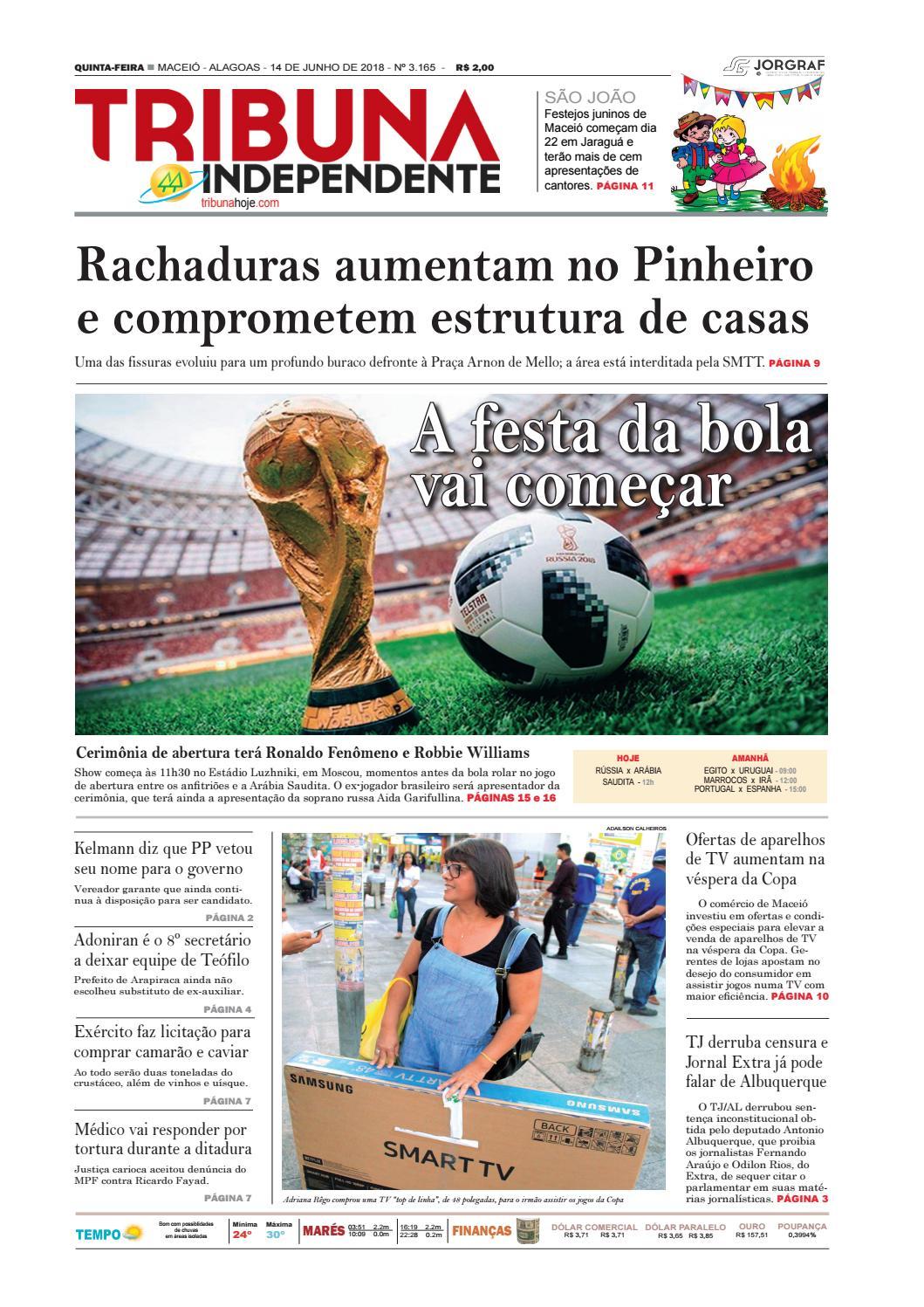 91ad71ee22116 Edição número 3165 – 14 de junho de 2018 by Tribuna Hoje - issuu