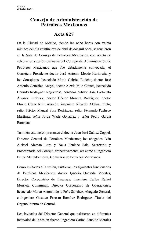 380864598 acta 827 consejo de administracion de pemex by ...