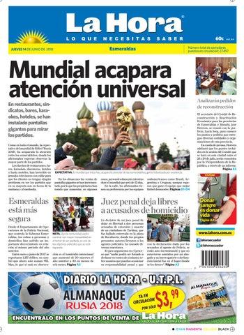 Esmeraldas 14 de junio de 2018 by Diario La Hora Ecuador - issuu c62247e4a4608