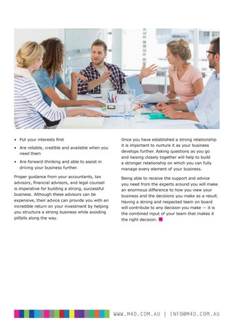 Page 40 of M4D Business Journal 112 Should you merge your practice Part 1