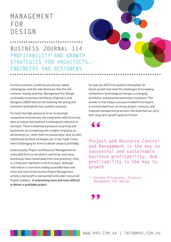 Page 49 of M4D Business Journal 114 Profitability and Growth