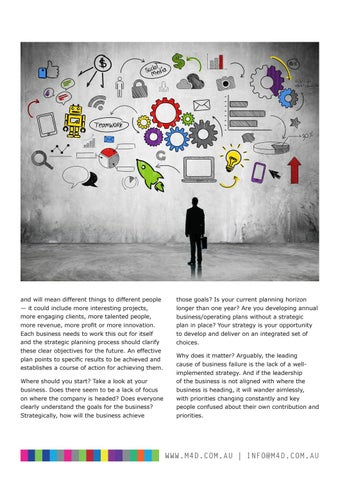 Page 7 of M4D Business Journal 102 Making Strategy Happen