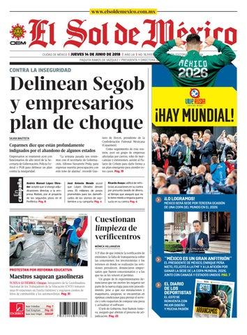 El Sol de México 14 de junio 2018 by El Sol de México - issuu 81c9a3dc1f326