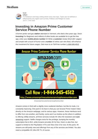 Investing in Amazon Prime Customer Service Phone Number by
