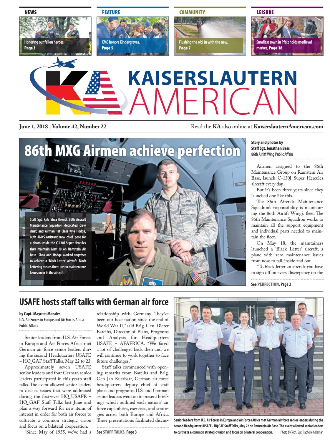reputable site ff955 56da4 Kaiserslautern American, June 1, 2018 by AdvantiPro GmbH - issuu