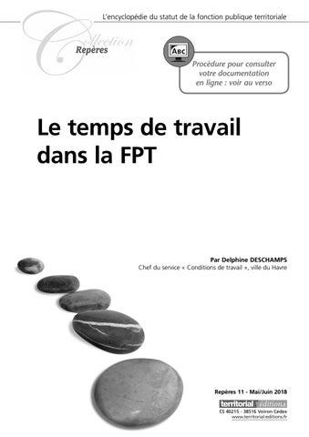 Le Temps De Travail Dans La Fonction Publique Territoriale By