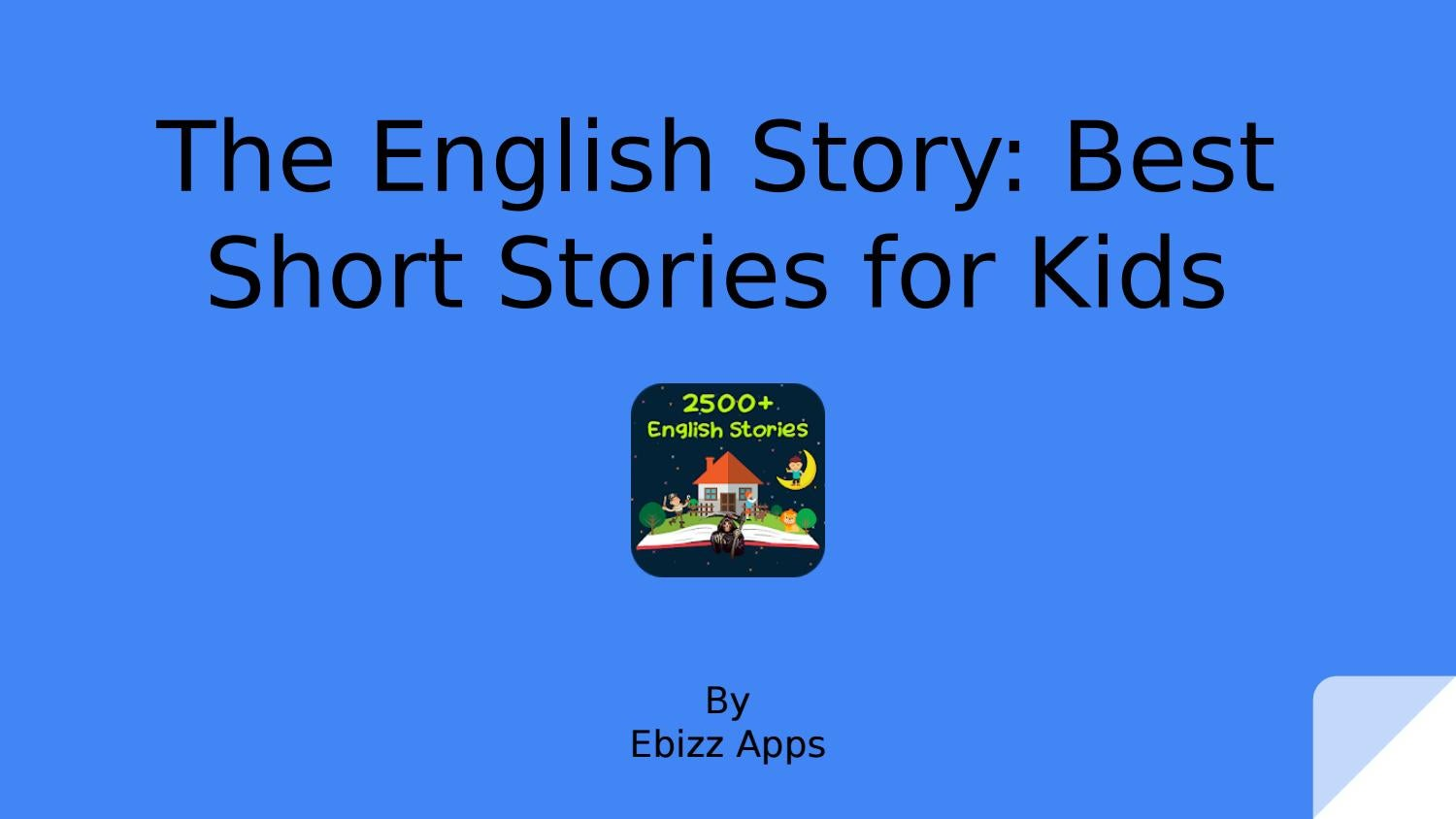 The English Story: Best Short Stories for Kids by