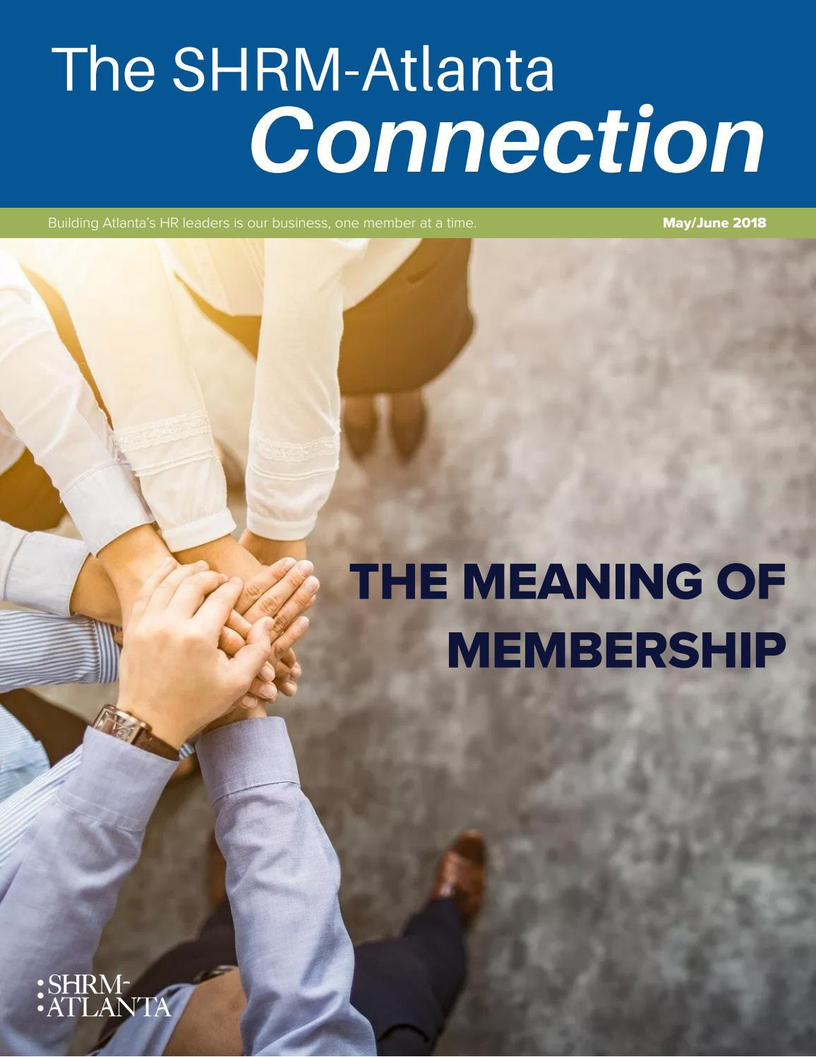 Mayjune 2018 The Shrm Atlanta Connection Emagazine By Shrm
