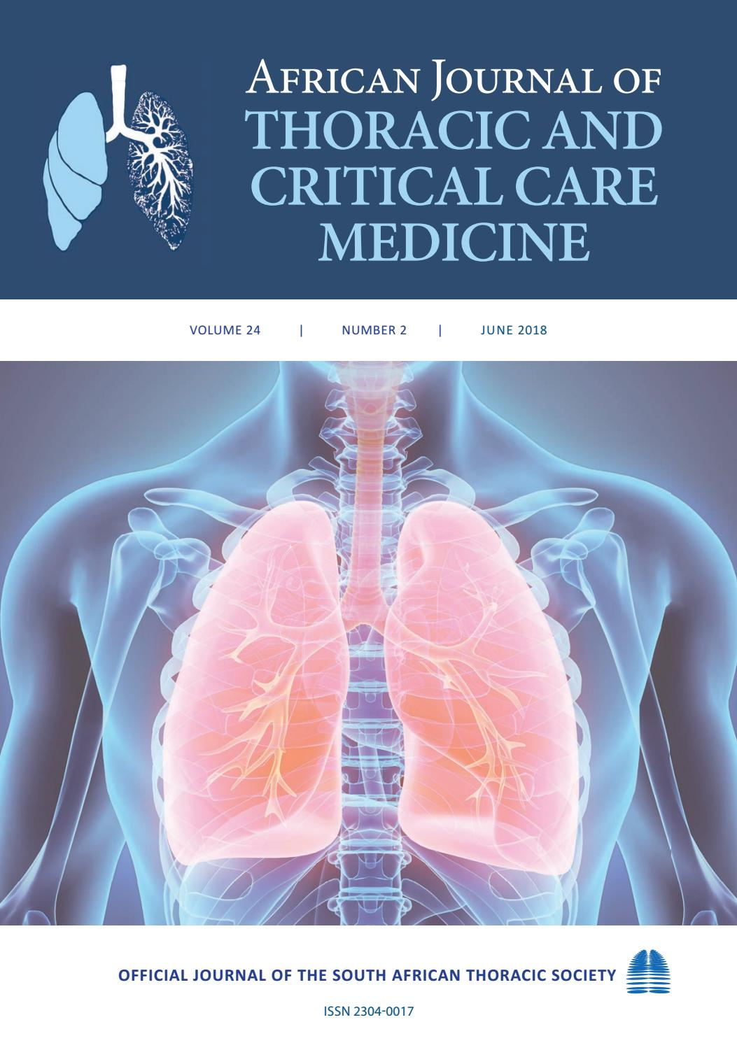 African Journal of Thoracic and Critical Care Medicine - Vol