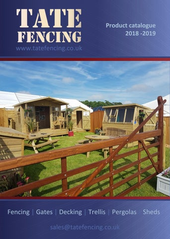 Tate Fencing Brochure 2018 By Tatefencing Issuu