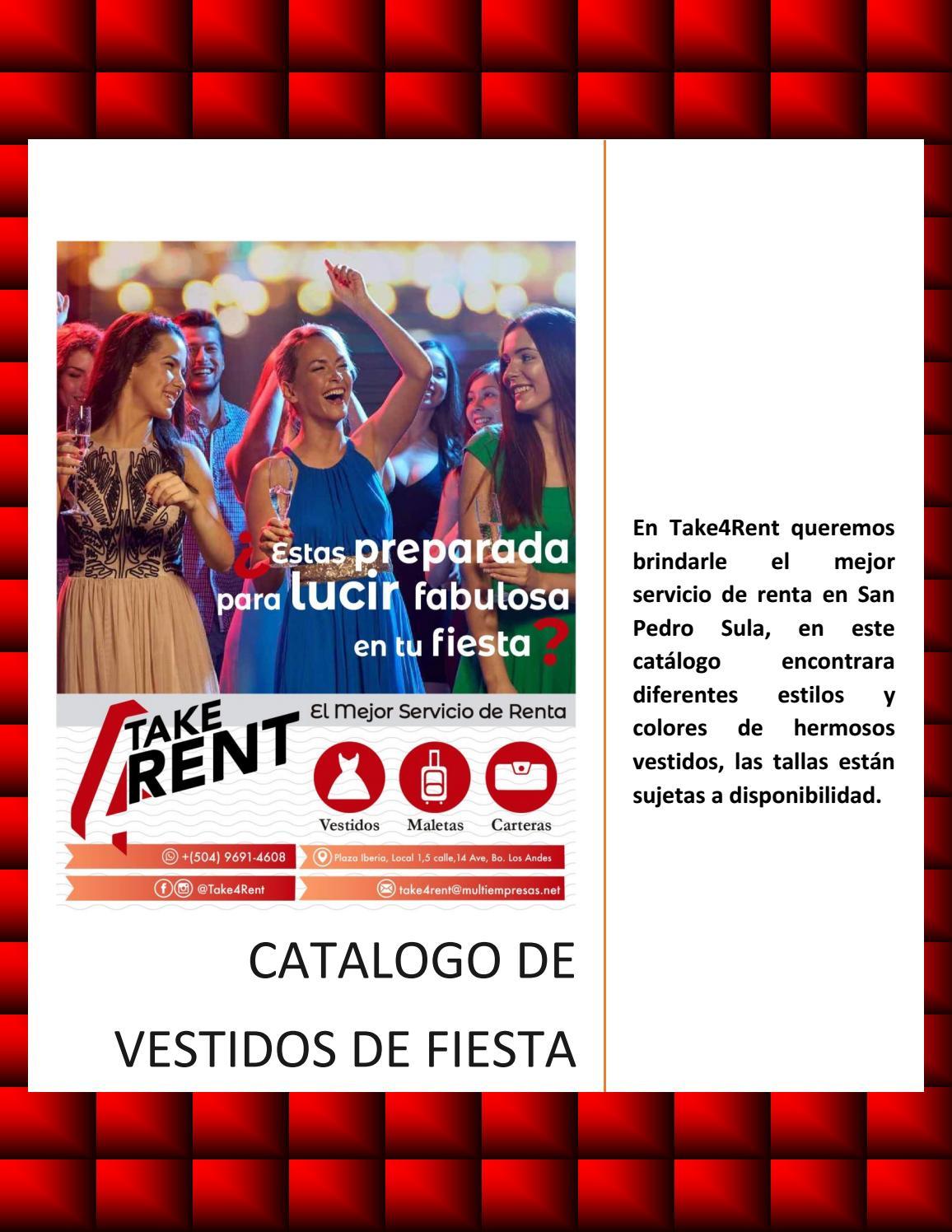 Catalogo De Vestidos De Fiesta By Take4rent Issuu
