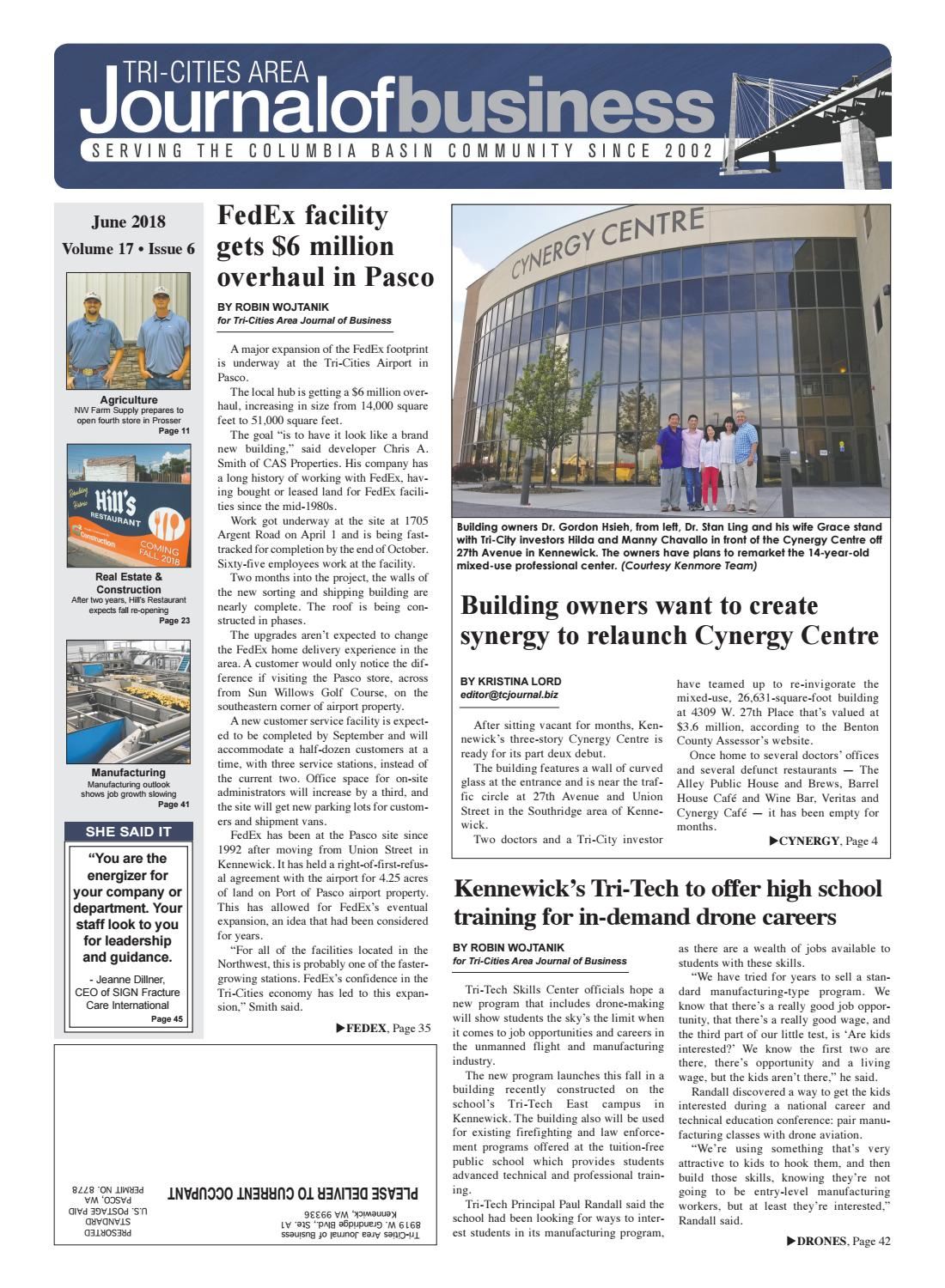 Tri-Cities Area Journal of Business -- June 2018 by Tri