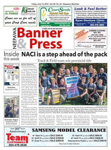 Neepawa Banner & Press - June 15th, 2018 by Neepawa Banner&Press - on