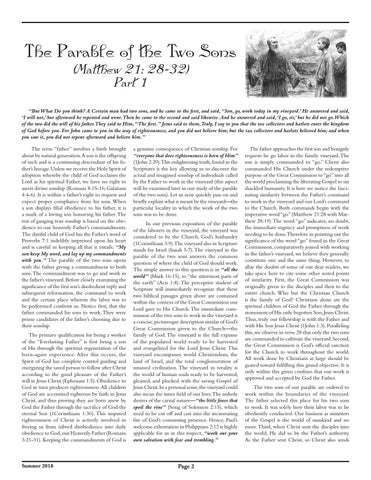 Page 2 of The Parable of the Two Sons (Matthew 21:28-32), Part 1
