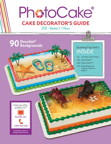 PhotoCake Update 37 Cake Decorator Guide by DecoPac - issuu