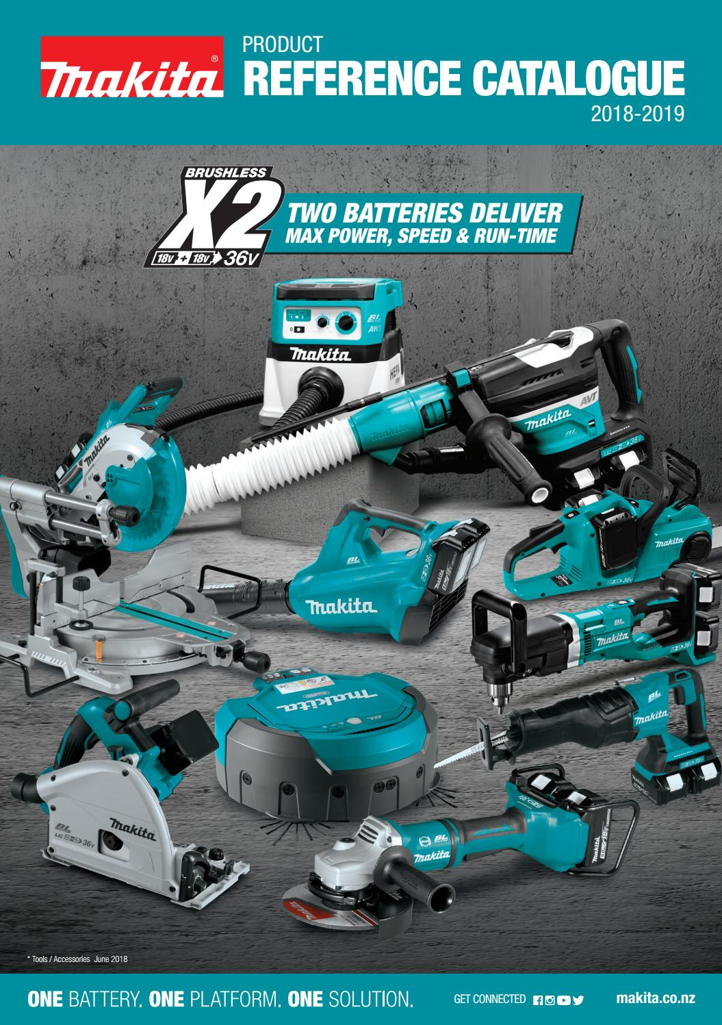 Makita New Zealand Reference Catalogue 2018 19 By Makita New