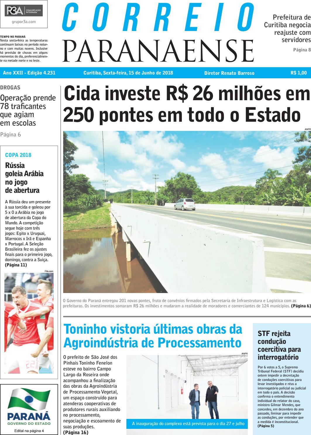 73c7c2df43 Correio Paranaense - 15 06 18 by Editora Correio Paranaense - issuu