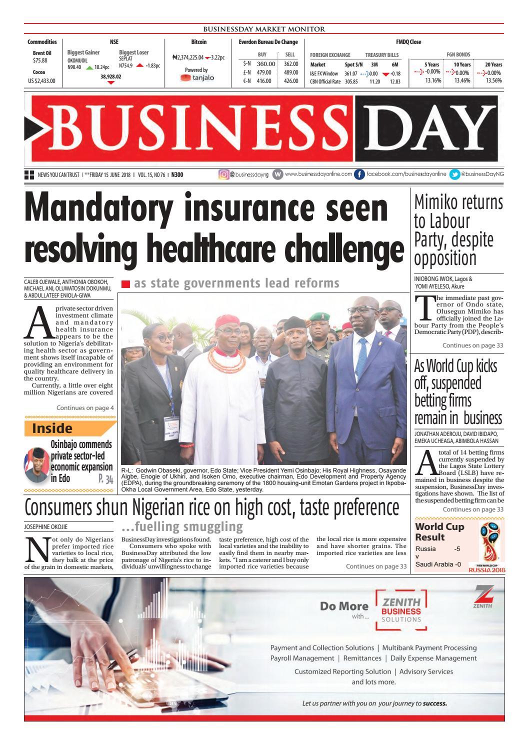 Businessday 15 jun 2018 by BusinessDay - issuu