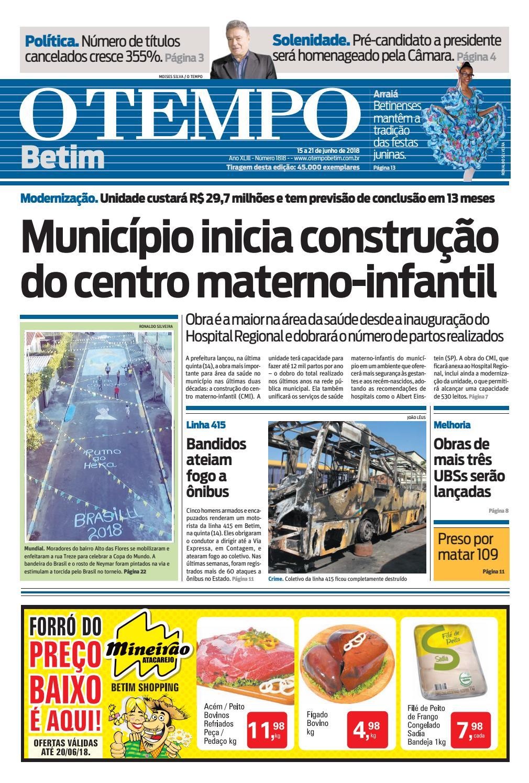 O Tempo Betim - 15 a 21 de junho de 2018 by Tecnologia Sempre Editora -  issuu 212bd398b83c3